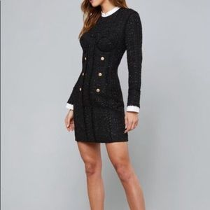 "Bebe ""Soraya"" Tweed Dress"
